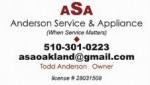 Anderson Service & Appliance logo