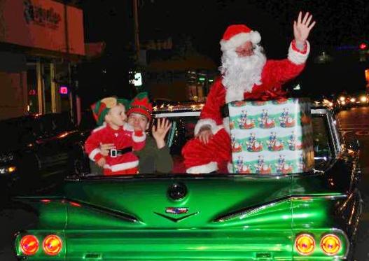 Santa Drives in